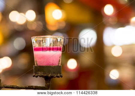 Candle Light In Cup