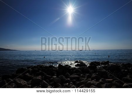 High Sun Over Seascape