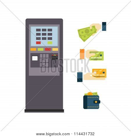 ATM Vector Illustration Set