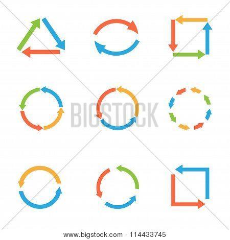 Coloured arrow set