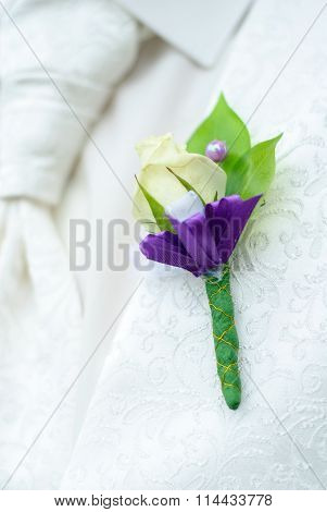 Beautiful Groom's Boutonniere