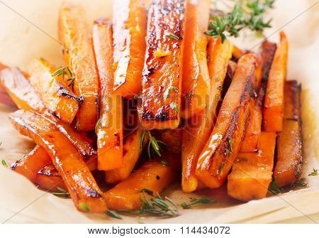 Homemade Orange Sweet Potato Fries.