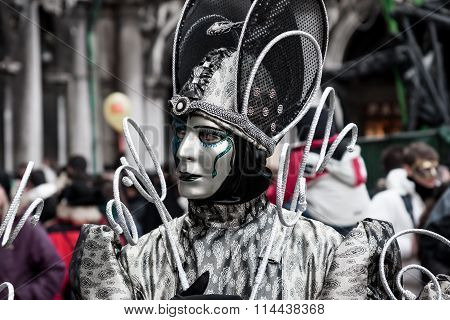 Alien fantasy Carnival Mask at Carnival in Venice, Italy