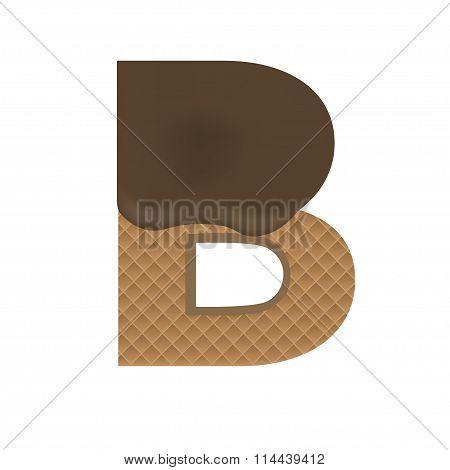 Wafer B letter