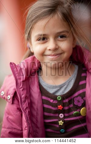 Close Up Of Beautiful Smiling Little Girl