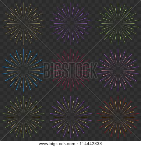 Multicolored firework explodes