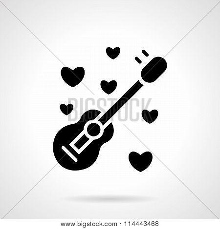 Romantic event black flat vector icon