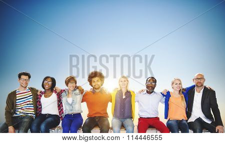 Friends Friendship Sitting Togetherness Fun Concept