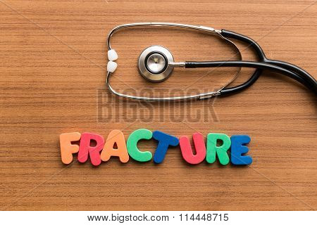 Fracture Colorful Word