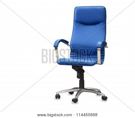 Modern Office Chair From Blye Leather. Isolated