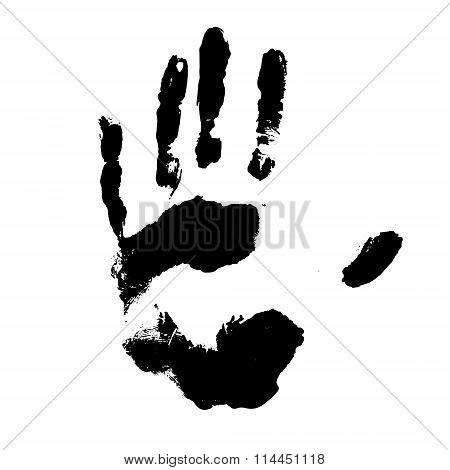 Vector black handprint