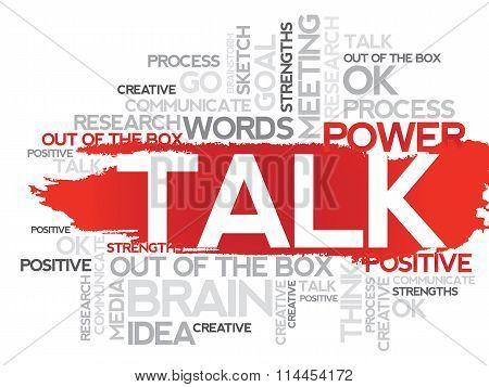 Talk word cloud
