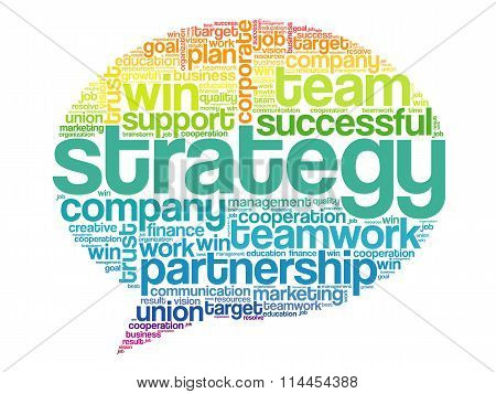 Colorful Strategy Think Bubble