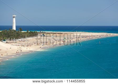 Beach of Morro Jable Canary Island Fuerteventura Spain