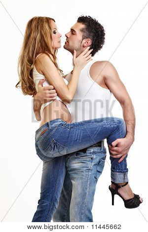 Picture Of A Passionate Couple
