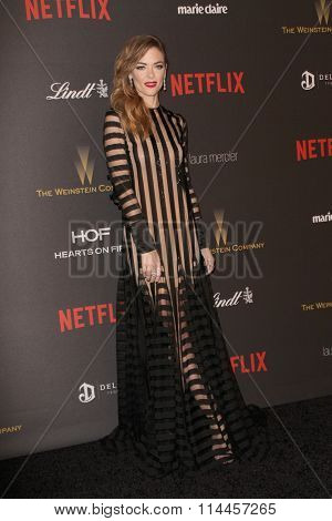 BEVERLY HILLS, CA - JAN. 10: Jamie King arrives at the Weinstein Company and Netflix 2016 Golden Globes After Party on Sunday, January 10, 2016 at the Beverly Hilton Hotel in Beverly Hills, CA.