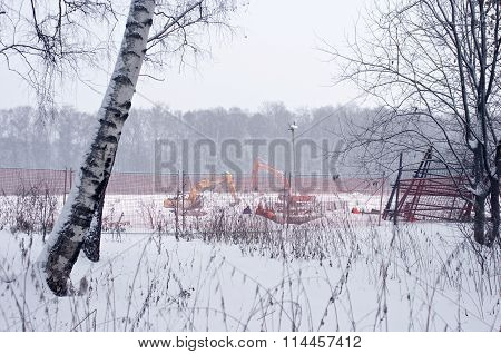 Construction Works In Winter