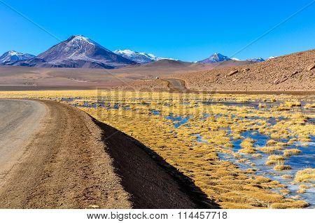 Volcanic Landscape In The Atacama Desert, Chile