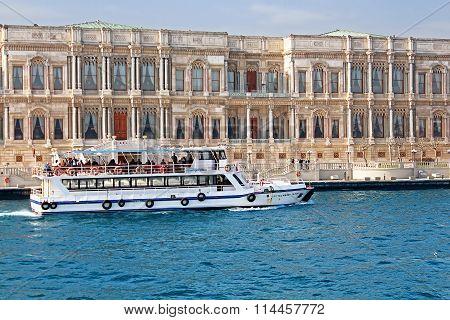 Ciragan Palace In Istanbul, Turkey