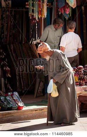 Old Man In Street, Aswan