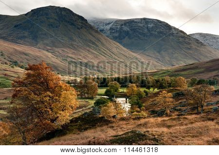 Mountain Burn In Glen Lyon, Scotland.