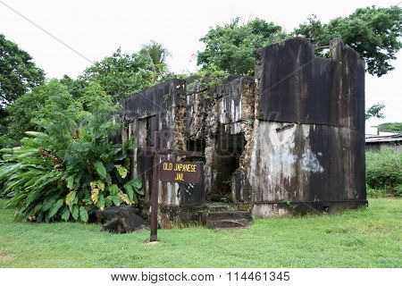 Old Japanese jail in Saipan North Mariana Islands