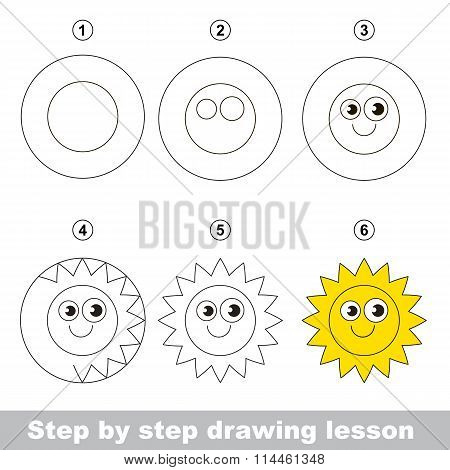 Drawing tutorial. How to draw a Sun