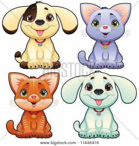 Cute dogs and cats