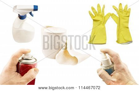 Various Hygiene Products And Cleaning