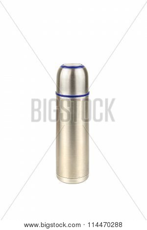 Aluminum Bottle Water Canteen Isolated White