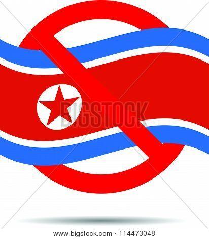North Korea ban sign