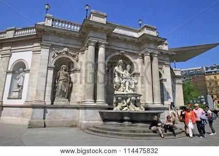 Vienna, Austria - April 25, 2013: Sculptures At Albertina Museum In The Innere Stadt Of Vienna, Aust