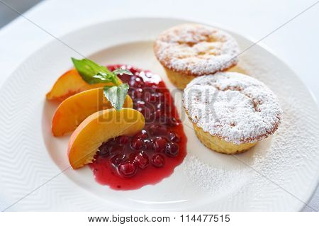 Curd Cake With Cranberry