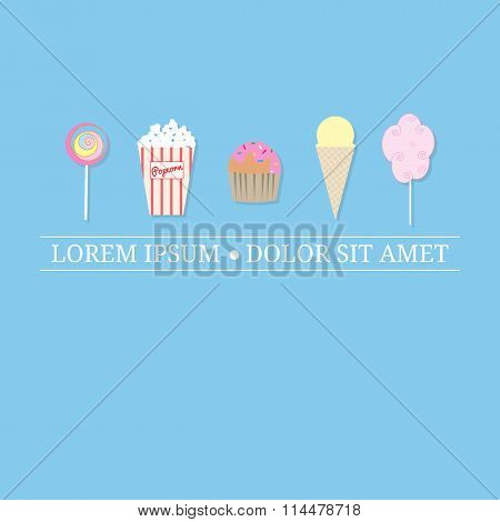Logo design template with street desserts.