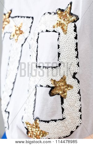 Blouse With Golden Sequins