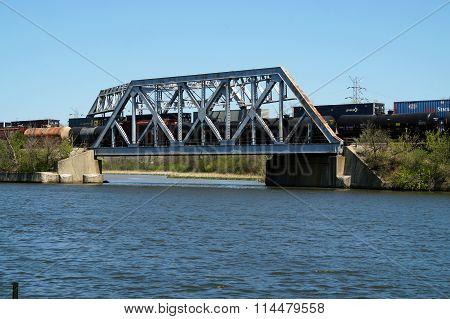 Trains Cross Bridge