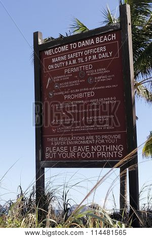 Dania Beach Permitted Prohibited Sign