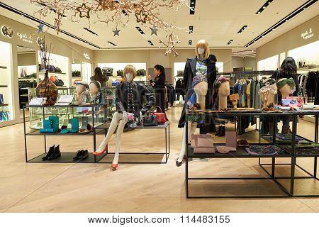 HONG KONG - DECEMBER 25, 2015: agnes b store in shopping mall in Hong Kong.