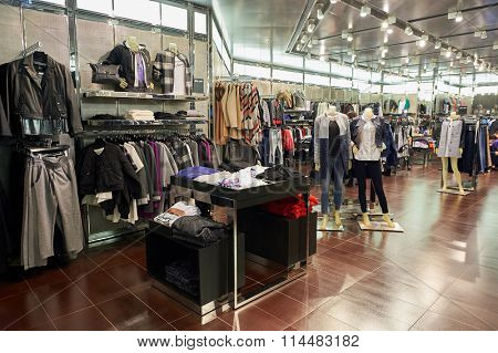 HONG KONG - DECEMBER 25, 2015: Armani Ecxhange store in Hong Kong. Armani Exchange is retails fashion and lifestyle products and is known for its occasionally provocative ad campaigns