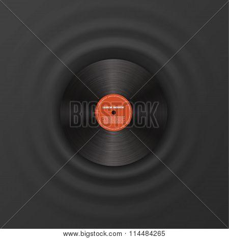 Vinyl disk realistic design eps 10