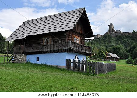 Heritage Village and Castle Stara Lubovna, Slovakia, Europe