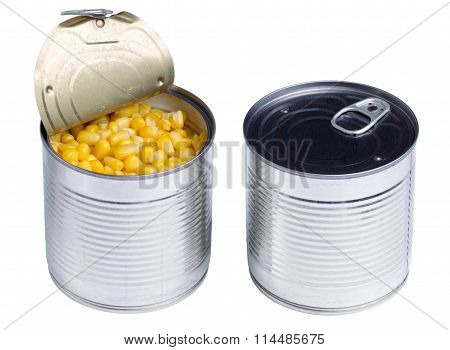 Canned Sweet Corn Isolated