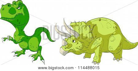 T-Rex and Triceratops