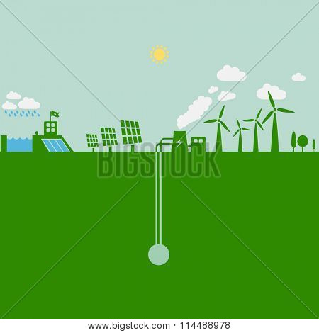 Pollution from power plants and heavy industry.