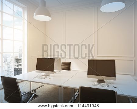 Workplace In An Office