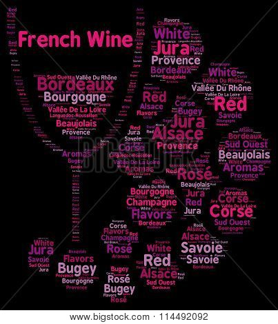 French wines word cloud concept