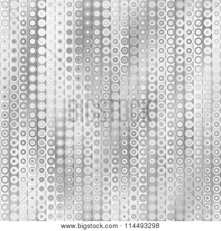 Raster Seamless Greyscale Gradient Vertical Stripes And Circles Pattern