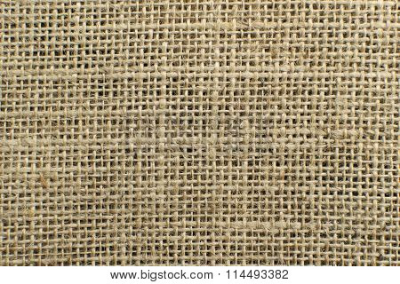 The Texture Of Jute Canvas