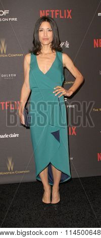 BEVERLY HILLS, CA - JAN. 10: Julia Jones arrives at the Weinstein Company and Netflix 2016 Golden Globes After Party on Sunday, January 10, 2016 at the Beverly Hilton Hotel in Beverly Hills, CA.