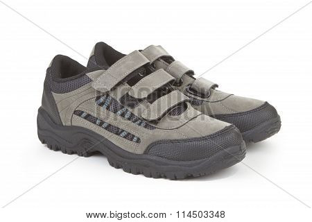 Shoes With  Hook And Loop Fastener